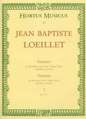 de Gant Jean Baptiste Loeillet - Sonaten - Heft 1: Op. 1 Nr. 1-3 - Blockflöten U. Bc - Partition - di-arezzo.co.uk