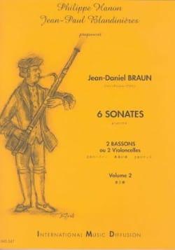 6 Sonates Volume 2 Jean-Daniel Braun Partition Basson - laflutedepan
