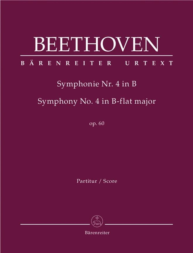 Symphonie Nr. 4 B-Dur op. 60 - BEETHOVEN - laflutedepan.com