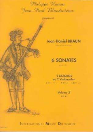 6 Sonates Volume 2 - Jean-Daniel Braun - Partition - laflutedepan.com