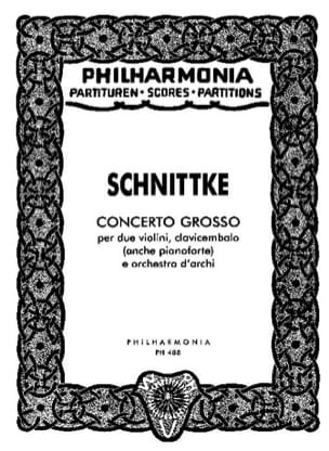 Concerto grosso - Partitur SCHNITTKE Partition laflutedepan