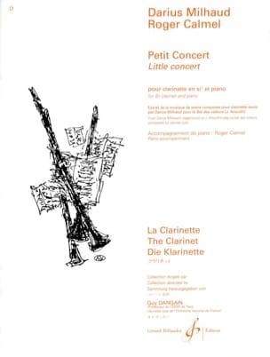 Petit Concert MILHAUD Partition Clarinette - laflutedepan