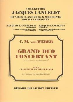 Grand duo concertant op. 34 Carl Maria von Weber laflutedepan