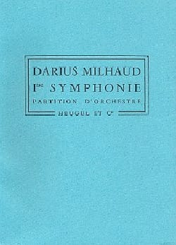 Symphonie n° 1 - Conducteur MILHAUD Partition laflutedepan