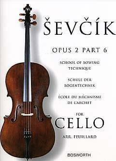 Etudes Opus 2 / Partie 6 - Violoncelle Otakar Sevcik laflutedepan