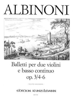 6 Baletti e Sonate op. 3/4-6 -Stimmen ALBINONI Partition laflutedepan