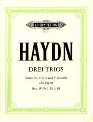 3 Trios Hob. 4 : Es 1, Es 2, B 1 -Klarinette Violine Cello o. Fagott laflutedepan
