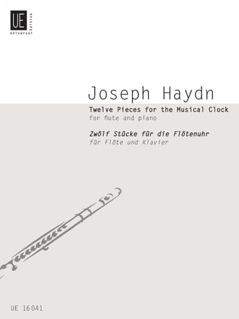 12 Pieces For The Musical Clock - HAYDN - Partition - laflutedepan.com