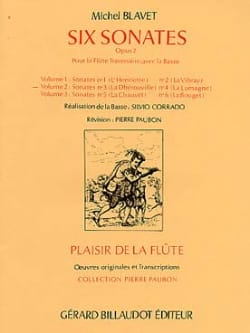 Michel Blavet - 6 Sonatas, op. 2 Volume 2 - Flute and Bc - Partition - di-arezzo.co.uk