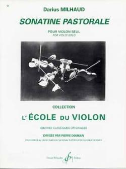 Sonatine pastorale MILHAUD Partition Violon - laflutedepan