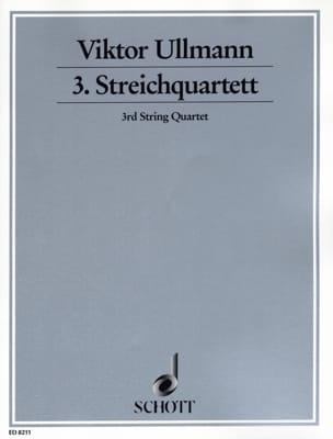 Streichquartett Nr. 3 Op. 46 Viktor Ullmann Partition laflutedepan
