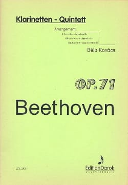 Klarinetten-Quintett op. 71 - 5 Klarinetten BEETHOVEN laflutedepan