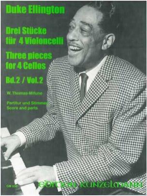 3 Pieces for 4 Cellos - Volume 2 Duke Ellington Partition laflutedepan