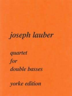 Quartet for double basses Joseph Lauber Partition laflutedepan
