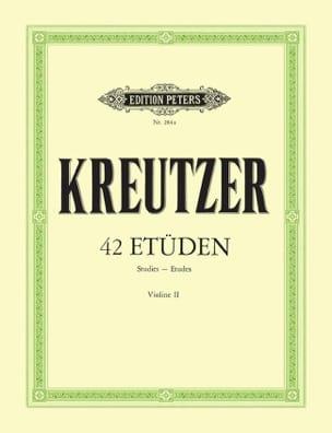 Rodolphe Kreutzer - 42 Etüden Violine 2 - Partition - di-arezzo.fr
