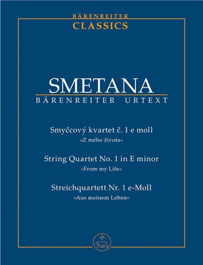 Quatuor à Cordes N° 1 en Mi Mineur - SMETANA - laflutedepan.com