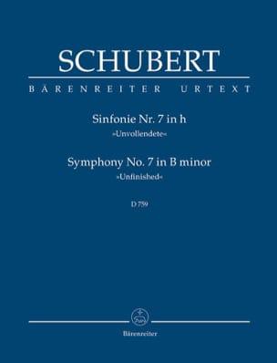 Symphonie Nr. 7 Unvollendete - Partitur SCHUBERT laflutedepan
