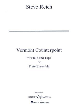 Vermont Counterpoint - Full Score Steve Reich Partition laflutedepan
