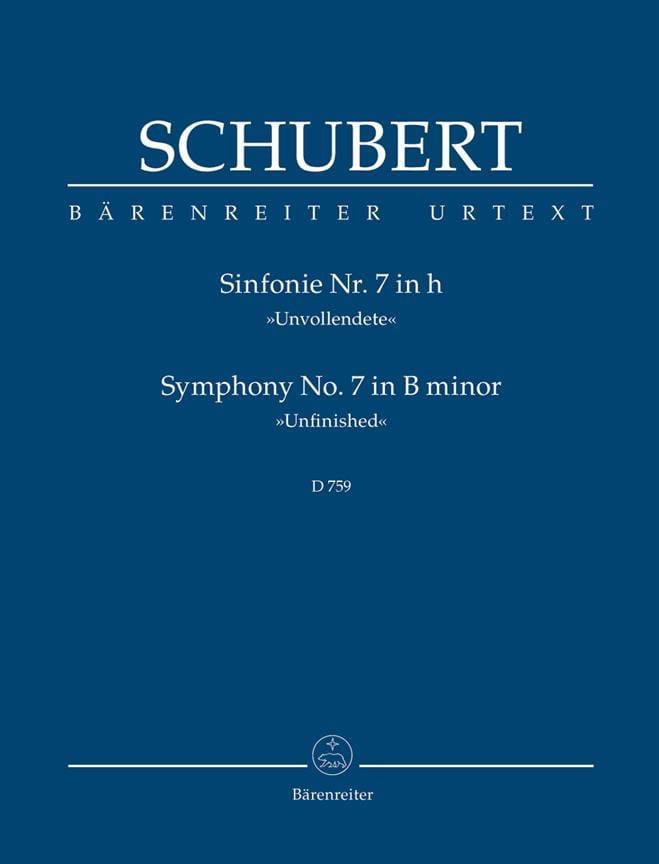 Symphonie Nr. 7 Unvollendete - Partitur - SCHUBERT - laflutedepan.com