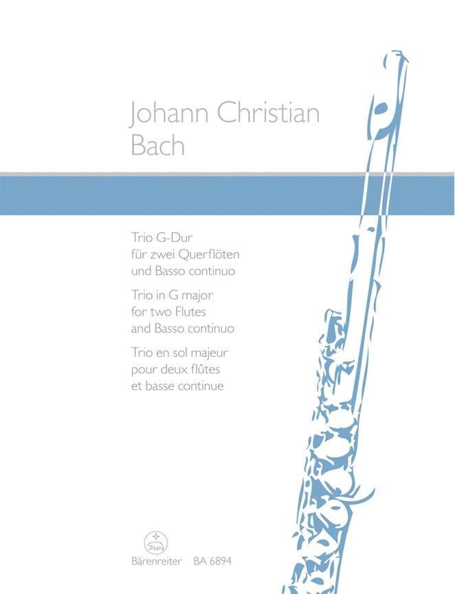 Trio G-Dur - 2 Flöten Bc - Johann Christian Bach - laflutedepan.com