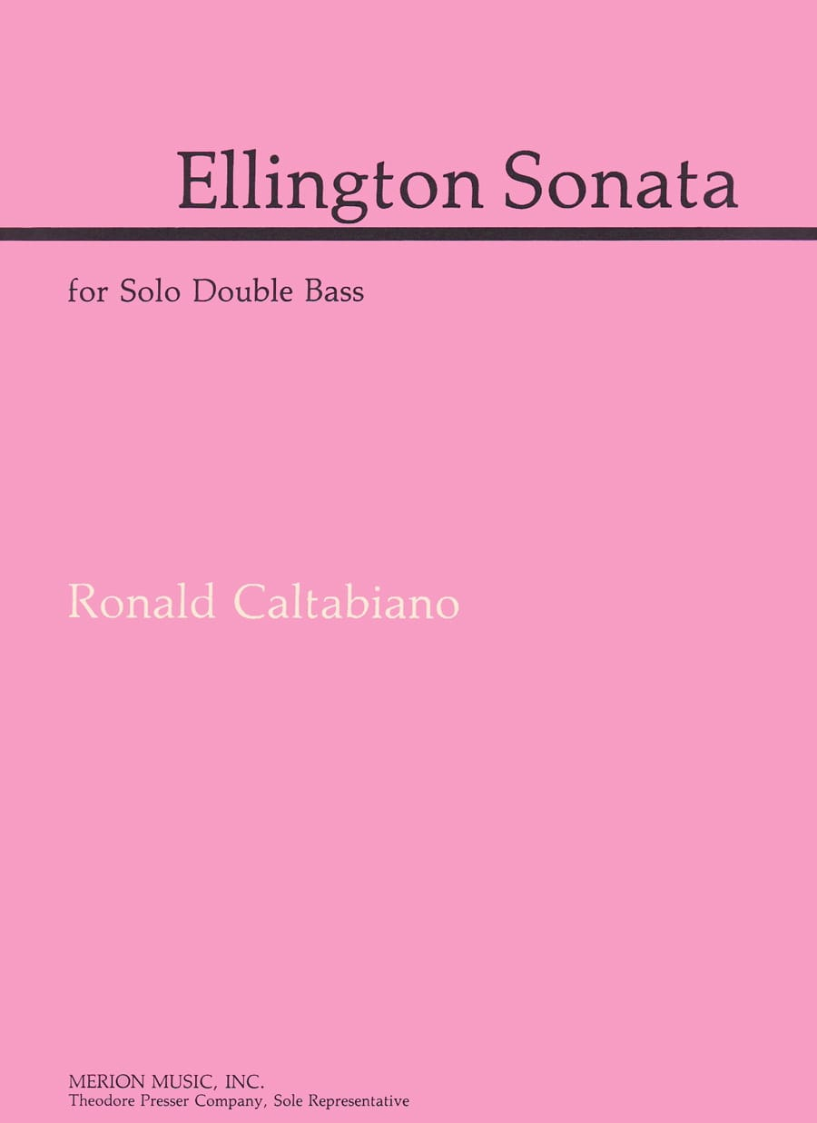 Ellington Sonata - Ronald Caltabiano - Partition - laflutedepan.com