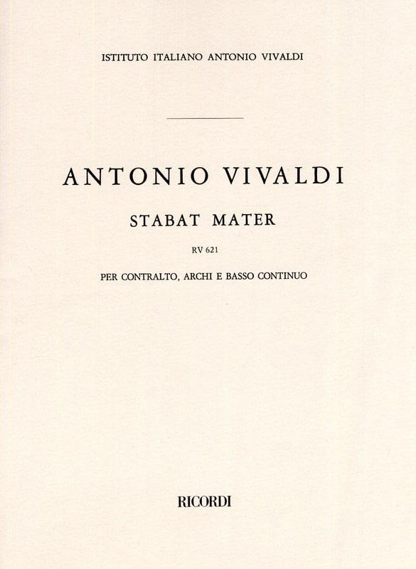 Stabat Mater RV 621 - VIVALDI - Partition - laflutedepan.com