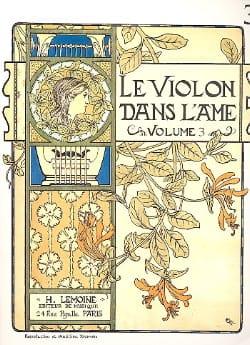 Le Violon dans l'Ame - Volume 3 Bruno Garlej Partition laflutedepan