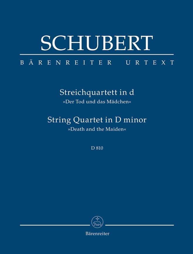 Quatuor - La Jeune Fille et la Mort - SCHUBERT - laflutedepan.com
