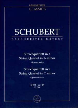 Streichquartett a-moll D 804 Rosamunde - Quartettsatz c-moll D 703 laflutedepan