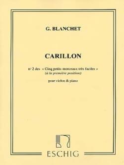 Carillon Georges Blanchet Partition Violon - laflutedepan