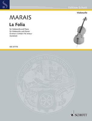 La Folia Marin Marais Partition Violoncelle - laflutedepan