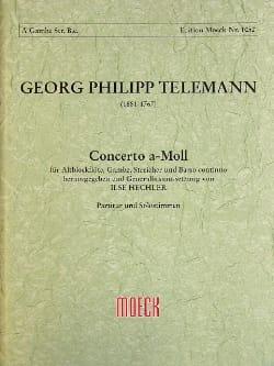 Concerto A-Moll - Altblockflöte Gambe Streicher Bc Twv52:a1 laflutedepan