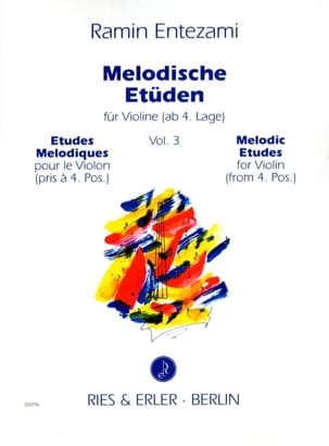Melodische Etüden Volume 3 Ramin Entezami Partition laflutedepan