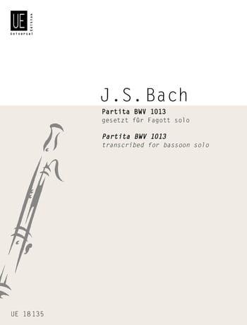 Partita BWV 1013 -Fagott solo - BACH - Partition - laflutedepan.com