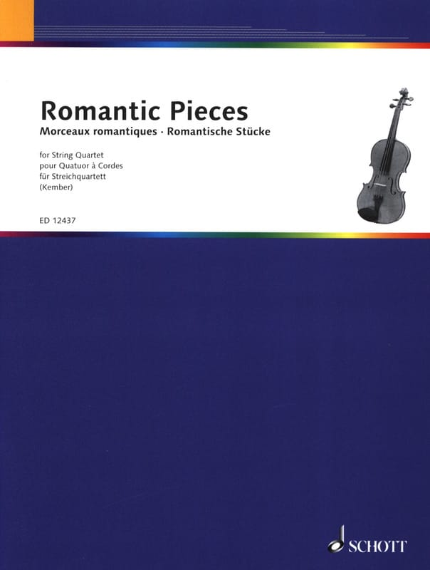 Romantic Pieces - String quartet - John Kember - laflutedepan.com