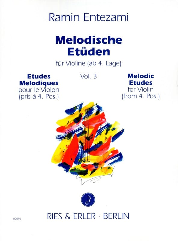 Melodische Etüden Volume 3 - Ramin Entezami - laflutedepan.com