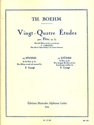 24 Etudes op. 37 - Boehm Theobald / Caratgé F. - laflutedepan.com