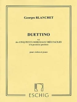 Duettino Georges Blanchet Partition Violon - laflutedepan