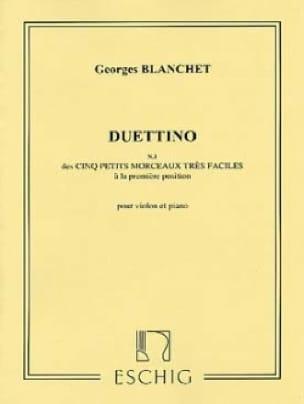 Duettino - Georges Blanchet - Partition - Violon - laflutedepan.com