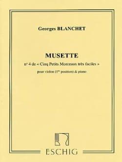 Musette Georges Blanchet Partition Violon - laflutedepan