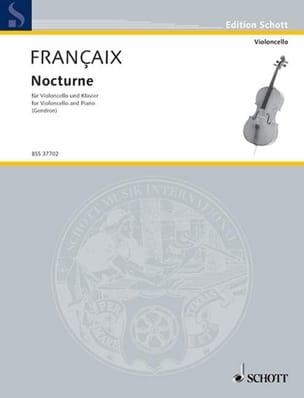 Jean Françaix - Nocturne - Cello - Partition - di-arezzo.co.uk