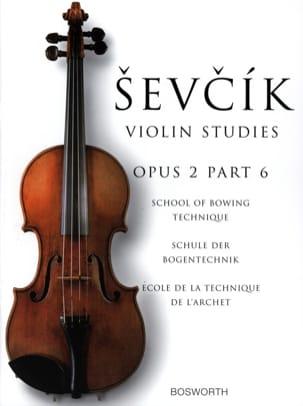 Etudes Opus 2 / Partie 6 - Violon Otakar Sevcik Partition laflutedepan