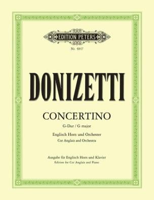 Concertino G-Dur - Englisch Horn Klavier DONIZETTI laflutedepan