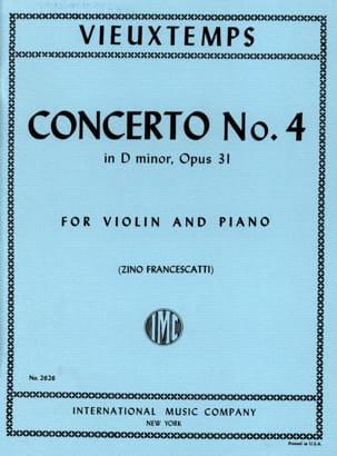 Concerto Violon n° 4 ré mineur op. 31 VIEUXTEMPS laflutedepan