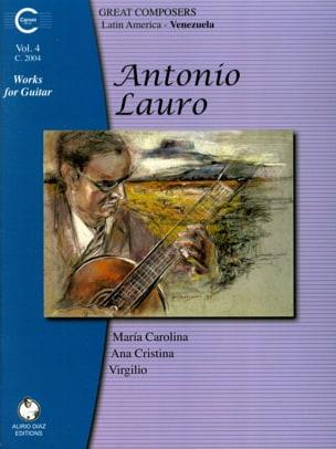 Oeuvres pour Guitare, Volume 4 Antonio Lauro Partition laflutedepan