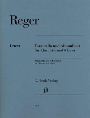 Tarantella / Albumblatt - Clarinette et piano Max Reger laflutedepan