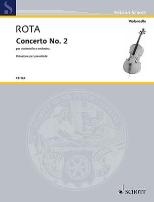 Concerto n° 2 - Violoncelle et piano ROTA Partition laflutedepan
