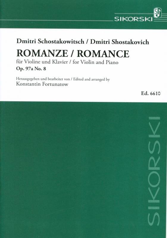 Romance op. 97a, n° 8 - CHOSTAKOVITCH - Partition - laflutedepan.com