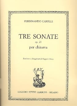 3 Sonate op. 21 -Chitarra Ferdinando Carulli Partition laflutedepan