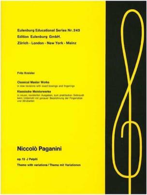 I Palpiti op. 13 Kreisler PAGANINI Partition Violon - laflutedepan